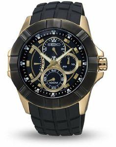 Seiko Lord SRL070P1 Men's Chronograph Black Strap Watch Seiko. $179.99. Precise Quartz Movement. Polyurethane Black Strap. Hardlex Crystal. Chronograph Display. Save 54%!