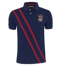 Navy blue polo shirt - by Hackett Navy Blue Polo Shirts, Polo Tee Shirts, Polo Rugby Shirt, Mode London, Polo Ralph Lauren Outlet, Le Polo, Bowling Shirts, Fashion Wear, Man Fashion