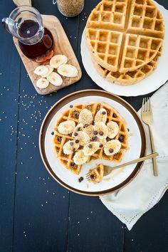 #Vegan #GlutenFree Crisp Miso-Tahini Waffles  |  Keepin' It Kind