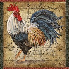 I uploaded new artwork to fineartamerica.com! - 'Proud Rooster-d' - http://fineartamerica.com/featured/proud-rooster-d-jean-plout.html via @fineartamerica