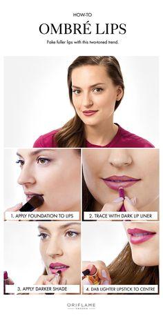 Two-toned ombré lips give you that desirable fuller lip effect while incporating bold colours into your everyday beauty routine.