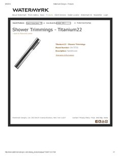 Titanium hand shower