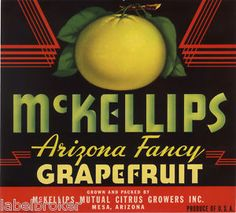 """McKellips"" vintage crate label"