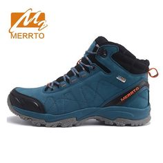 69.50$  Buy now - http://aliye6.worldwells.pw/go.php?t=32747045112 - MERRTO Men's Winter & Fall Leather Waterproof Outdoor Hiking Trekking Boots Shoes Sneakers For Men Climbing Mountain Boots Shoes
