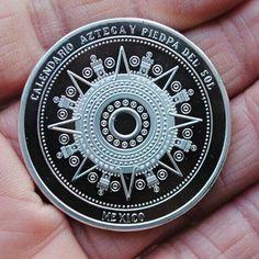 New Coins Art Mexico Mayan Aztec Calendar Commemorative Coin Souvenir Metal Craft Coin