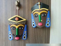 Best 10 Male and female face wall hanging. From coorg ( karnataka) Puppet Crafts, Clay Crafts, Arts And Crafts, Art N Craft, Craft Work, Bottle Art, Bottle Crafts, Clay Wall Art, Clay Art Projects