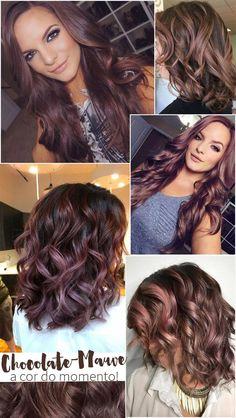 cool Chocolate Mauve Hair: a linda mistura de castanho ... { Cabelos Castanhos } Check more at http://pinfashion.top/pin/48452/