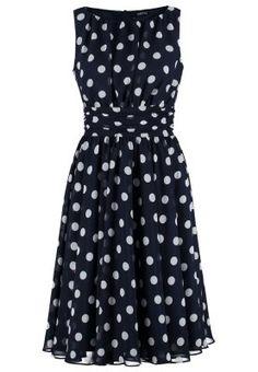 Kleide dich wie in den wilden 50ern! Swing Cocktailkleid / festliches Kleid - dunkelblau/cremeweiß für 139,95 € (21.01.16) versandkostenfrei bei Zalando bestellen.