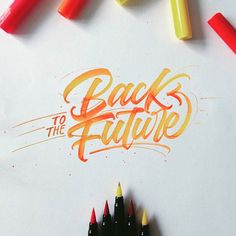 Back to the future . From a beautiful brush work by @mdemilan __ Featured by @thedailytype #thedailytype Learning stuffs via: www.learntype.today __