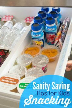 Tired of your kids crying that they are hungry? I was too! This tips totally save my sanity from kids constant need to snack! See how you can make a snack drawer and what to include. (AD)