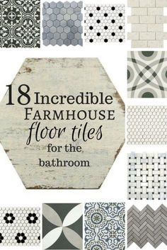 cool Idée décoration Salle de bain - 18 Incredible farmhouse floor tiles for the bathroom! Oh my! If I could have all...