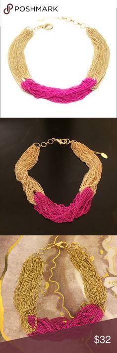 Selling this Amrita Singh Sylvana Gold Plated Fuchsia Necklace on Poshmark! My username is: harleen5741. #shopmycloset #poshmark #fashion #shopping #style #forsale #Amrita Singh #Jewelry