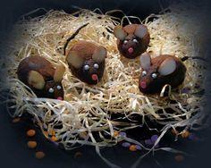Receitas para Halloween ratinhos de chocolate