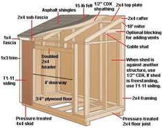 lean-to-shed-construction-diagram Planning To Build A Shed? Now You Can Build ANY Shed In A Weekend Even If You've Zero Woodworking Experience! Start building amazing sheds the easier way with a collection of shed plans! Lean To Shed Plans, Wood Shed Plans, Shed Building Plans, Small Shed Plans, Diy Shed Plans, Building Ideas, Deck Plans, Building Design, Shed Ideas