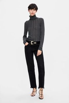 Loose-fitting sweater with a high neck, long sleeves and ribbed trims. HEIGHT OF MODEL: 177 CM / Ribbed Turtleneck, Zara United States, Pullover, Fall Trends, High Collar, Knitwear, Normcore, Turtle Neck, Sweaters
