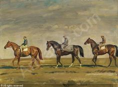 Out Exercising by Alfred James Munnings