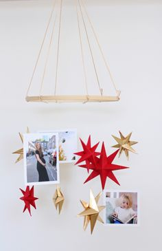A simple DIY photo and star mobile for a baby nursery #timeshelprints #Pmedia #ad