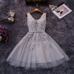 Cheap dress length short women, Buy Quality dress casual attire women directly from China dresses for baby girls Suppliers: In Stock Elegant Tulle V Neck Lace Appliques Party Dress Cheap Short Prom Dresses 2016 Under 50$ For Teens Graduation G