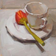 """""""Tulip Tea - SOLD"""" - Original Fine Art for Sale - © Carol Marine"""