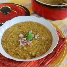 A recipe for khichari, made with quinoa and moong lentils.