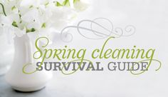 Make your home sparkle from top to bottom with our helpful spring cleaning survival guide. Survival Knife, The Essential, Living Off The Land, Getting Things Done, Spring Cleaning, Natural Cleaning Products, Declutter, Housekeeping, Shelter