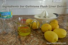 Gallstone Liver Flush - Recipe & Cleanse Info - Liver Detox - Gallbladder Cleanse - Olive Oil, Lemon Juice and Epsom Salt Flush | Jennifer Thompson