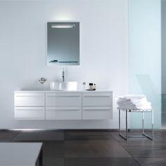 White Duravit Bathroom Vanity