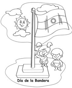 dibujos para colorear del dia de la bandera argentina