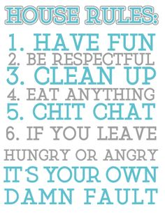 1000 images about simple rules to live by on pinterest house rules rules for and toddler rules. Black Bedroom Furniture Sets. Home Design Ideas