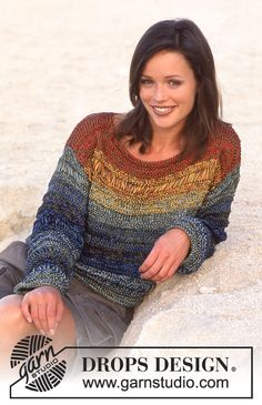 DROPS 61-19 - DROPS Sweater in triple strands of Cotton Viscose. - Free pattern by DROPS Design