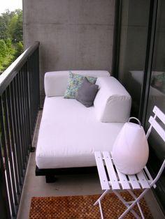 Balkon Relax Liege Ideen - behagliche Erholungsecke gestalten  - #Gartengestaltung