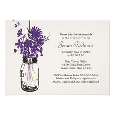 >>>Coupon Code          Wild flowers & Mason Jar Bridal Shower Announcements           Wild flowers & Mason Jar Bridal Shower Announcements lowest price for you. In addition you can compare price with another store and read helpful reviews. BuyDeals          Wild flowers & Mason...Cleck See More >>> http://www.zazzle.com/wild_flowers_mason_jar_bridal_shower_invitation-161803251525728107?rf=238627982471231924&zbar=1&tc=terrest