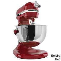 @Overstock.com - KitchenAid KV25MEX Pro 550 Plus Heavy Duty Stand Mixer - This Pro Series 12-cup stand mixer from KitchenAid is a substantial piece of home kitchen equipment. It features 575 watts of mixing power that makes quick work of creaming, kneading and whipping.  http://www.overstock.com/Home-Garden/KitchenAid-KV25MEX-Pro-550-Plus-Heavy-Duty-Stand-Mixer/8264907/product.html?CID=214117 $332.99
