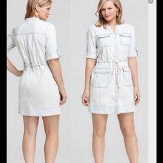 1536328e04a Michael Michael Kors Lightweight Denim Dress Lightweight denim dress with  3/4 length roll up