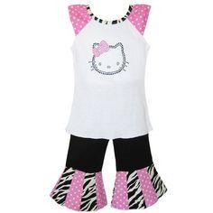 Girls Boutique Hello Kitty Cap sleeve shirt & « Clothing Impulse