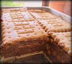 Γλυκο ψυγειου με νουτελλα Greek Sweets, Greek Desserts, Greek Recipes, Easy Desserts, Dessert Recipes, Nutella Recipes, Chocolate Recipes, Greek Cake, Food Network Recipes