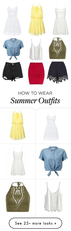 """Outfits for Summer"" by cateysmith on Polyvore featuring WithChic, Bebe, Chicwish, Miss Selfridge, New Look and Chloé"
