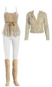Got the boots and jacket....who knew white jeans would be this cute?