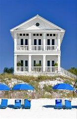 Carillon Beach Florida Beach Decor: Take a look at 'Bahama Mama' beach house tour. This is said to be one of the place to be in Carillon Beach. Beach Cottage Style, Coastal Cottage, Coastal Homes, Coastal Style, Beach House Decor, Coastal Living, Beach Homes, Seaside Style, Coastal Bedrooms