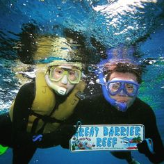 """Snorkel at the Great Barrier Reef if you're ever in Australia. This is a good diving spot too but a lot of the reef is in waters shallow enough that you are able to see plenty just by snorkeling. Be careful in the summer though - it's jellyfish season! Even the Lycra suits and snorkeling gear still leave parts of your face neck and hands exposed if your suit doesn't have a hood and """"mittens"""" for your hands. I had a whole horde of jellyfish swim right at me and all I could think of was…"""