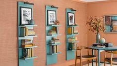 Vertical Lighted Book Shelves