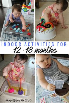 Toddler Tested & Approved Activities- Indoor busy activities for 12-18 month old babies. Great Activities for Fine Motor Skills