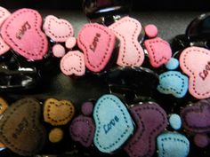 Another shot of the hair clips at Almoda Rox Valentines Day History, Dog Tags, Dog Tag Necklace, Hair Clips, Decor Ideas, Personalized Items, Gifts, Jewelry, Hair Rods