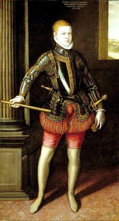 D. Sebastián by Cristovão de Morais. 1572. Museo del Prado. Madrid. He was eight or ten years old.
