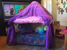 Repurposed playpen turned into a princess reading nook! Email for ...
