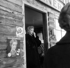 """Marilyn photographed by Bob Beerman on the set of """"Bus Stop"""" in Sun Valley, Idaho - 1955"""