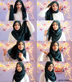 maxi hijab tutorial #hijab +BubbleGum Hijab +Zoya Hijab  - Les filles sont belles – Google+ Simple Hijab Tutorial, Hijab Style Tutorial, Scarf Tutorial, Modesty Fashion, Muslim Fashion, Saree With Hijab, How To Wear Hijab, Stylish Hijab, Hijab Collection