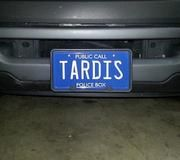 DOCTOR WHO: Fan-Requested TARDIS Embossed Vanity License Plate | Celebrity Machines