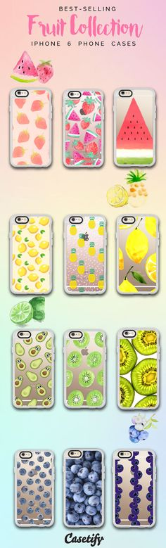 Top 12 Fruit iPhone 6 protective phone case designs | Click through to see more iPhone phone case idea >>> https://www.casetify.com/collections/iphone-6s-fruit-cases?device=iphone-6s/?device=iphone-6s | @casetify