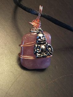 Wire Wrapped Red Aventurine with Buddha by LightSpiritSoul on Etsy